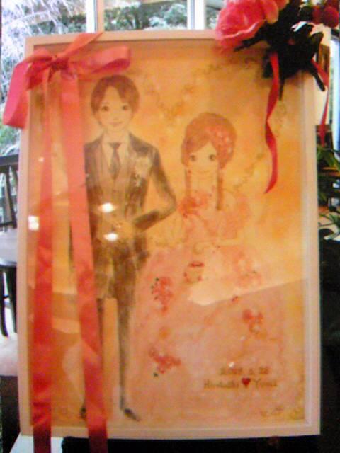 3月28日結婚式にて・ウエルカムボードお披露目です♪part2